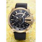 DIESEL ディーゼル DZ4344 腕時計 メンズ メガチーフ クロノグラフ ブラック×ゴールド