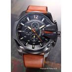 DIESEL ディーゼル 腕時計 メンズ DZ4343 メガチーフ クロノグラフ ガンメタル(オレンジポイント)