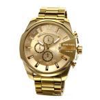 ディーゼル 腕時計 メンズ DIESEL DZ4360 メガチーフ クロノグラフ オールゴールド