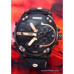 ディーゼル 腕時計 メンズ DIESEL DZ7350 ミスター ダディ2.0 オールブラック×ローズゴールド