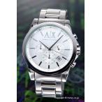 アルマーニエクスチェンジ 時計 メンズ Armani Exchange アウターバンクス クロノグラフ シルバー AX2058