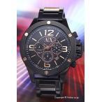 アルマーニエクスチェンジ 腕時計 メンズ Armani Exchange Well Worn クロノグラフ オールブラック×ローズゴールド AX1513
