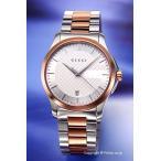 グッチ 腕時計 メンズ GUCCI YA126447 G-タイムレス シルバー×ピンクゴールド