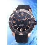 ショッピングXL マックス 腕時計 MAX XL WATCHES 5-MAX609 メンズ レジェンド オールブラック×ローズゴールド