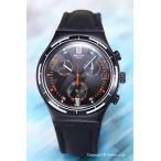 スウォッチ 腕時計 YCB4023 Irony Chrono Eruption (アイロニー クロノ エラプション) ブラック