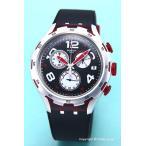 スウォッチ SWATCH 腕時計 Irony Chrono Xlite Red Wheel (アイロニー クロノ Xライト レッド・ホイール) ブラック YYS4004