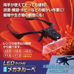 送料無料 2個セット LEDライト付き軽量メガネルーペ