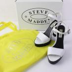 STEVE MADDEN スティーブマデン TRAVISS アンクルストラップ ヒール サンダル 7/ホワイト 靴 2400011764072