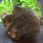 ブラジル産スモーキータイチンフラワールチルクォーツ原石パワーストーン天然石 メール便不可