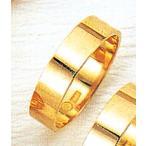 K18平打5mm3.7g金マリッジリング結婚指輪TRK372