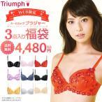 送料無料(トリンプ)Triumph WEB限定 ブラジャー3点入り福袋 E-BIJI FUKU 15 30-9