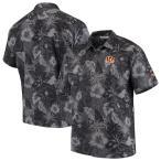 """トミーバハマ メンズ カジュアルシャツ """"Cincinnati Bengals"""" Tommy Bahama Fuego Floral Woven Button-Up Shirt - Black"""