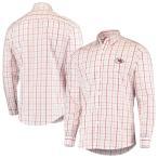 """メンズ カジュアルシャツ """"Kansas City Chiefs"""" Antigua Keen Long Sleeve Button-Down Shirt - White/Red"""
