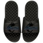 """メンズ サンダル """"Miami Marlins"""" ISlide MLB Tonal Pop Slide Sandals - Black"""