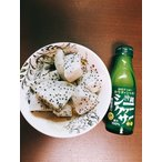 ベトナム産(白果肉)ドラゴンフルーツ(ホワイトピタヤ)の美味しい食べ方セット(ドラゴンフルーツ5個入り×シークヮーサー果汁1本)