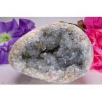 天然セレスタイト原石 486g ジオード 晶洞 ドーム パワーストーン 天然石