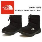 ノースフェイス ヌプシ ブーティー ウール ショート ブーツ レディース W Nuptse Bootie Wool 5 Short the north face NFW51979 K