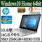 ショッピングOffice HP ENVY 15 フルHD液晶 office付き SSD搭載 15-as102TU Windows 10 Home 64bit 15.6型 Core i7 16GB SSD 256 HDD 1TB 1AD89PA-AAOC ノートパソコン 新品 本体
