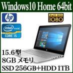 HP ノートパソコン ノートPC ENVY 15-as102TU Win 10 Home 64bit 15.6型 フルHD Core i5 8GB SSD 256 HDD 1TB Y4F64PA-AAOH