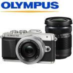 オリンパス 小型一眼カメラ 2本レンズキット 電動ズーム 望遠 E-PL7 EZダブルズームキット シルバー