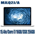Apple MJLQ2J/A Macbook ノートPC 本体 アップル Pro 15.4インチ Retinaディスプレイ Core i7 16GB SSD 256GB マックブックプロ MJLQ2JA
