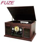 Aperia FUZE CLS50 ブルートゥース クラッシック レコードプレーヤー Bluetooth ワイヤレス接続 録音再生対応 MP3 ウッド調 ブラウンカラー