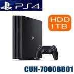 プレステ4 ゲーム機 本体 ソニー SONY CUH-7000BB01 プレイステーション4 Pro HDD 1TB ジェット・ブラック