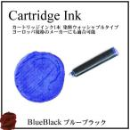 万年筆 インクカートリッジ 1本 ブルーブラック ヨーロッパ規格 送料108円