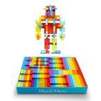 Bemixc 木のおもちゃ 虹色積み木 図形キューブドミノ 赤ちゃんおもちゃ 木製 型はめ プロック 天然ブナ無垢材 知育玩具 FSC認証済 92pcs