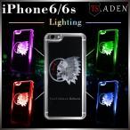 iPhone6s ケース iPhone6 ケース 光る アイフォン6s スマホケース ハードケース LED スカル インディアン