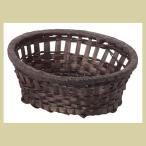 『竹』楕円タイプトレー「12×10×4.5cm」10Pセット/ダークブラウン