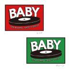 BABY ON BOARD SAFETY DRIVE おしゃれでかわいいステッカー 出産祝い・プレゼントにも(Baby in car/Baby on board)レコード