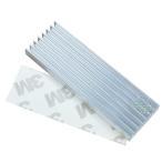 ヒートシンク  22x66x6mm アルミ製  熱伝導両面テープ付き  電子部品の冷却に M.2 SSDサイズ スティックPC USBメモリー 電装品 パソコン等 HS-226606