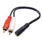 3.5mmステレオ(3極)メス⇔RCA(ピンプラグ)オス オーディオケーブル 全長:約20cm COMON 35SF-RM2 デジパラ C65107