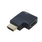 HDMIアダプター L型(左向き) HDMI(メス)⇔HDMI(オス) 4k2k対応 端子:金メッキ 狭所 壁掛 ス