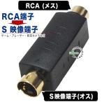 RCA映像(メス)→S映像端子(オス)変換アダプタ COMON R-4S カラー対応 デジパラ C62625