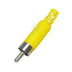 修理・自作用RCAプラグ 黄色 断線・腐食・接触不良時の修理・交換・オリジナル作成用  RCA映像端子 COMON RM-ITY