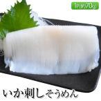 いか 烏賊 イカ 北海道産するめいか使用 いか刺しそうめん 1枚 約70g お刺身 おつまみ 冷凍同梱可能