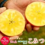 青森県産 ちょっと訳あり「こみつりんご」6〜12玉 約2kg  色ムラ・小さな傷などあり ※産地直送 【同梱不可】☆