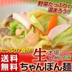 ≪送料無料≫九州の味「生ちゃんぽん麺」7食入り(生麺・スープ付き) ※常温 【メール便】【代引き不可】【同梱不可】