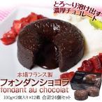 《送料無料》本場フランス製「フォンダンショコラ」100g×2個入×12箱 合計24個 ※冷凍