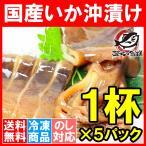 特大函館産真いかの沖漬け 1杯×5パック(いか イカ 烏賊)