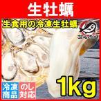 生牡蠣 1kg 生食用カキ(Lサイズ 冷凍時1kg 解凍後850g 冷凍むき身牡蠣 生食用)