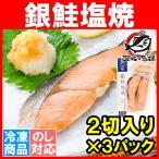 銀鮭 塩焼 2切れ×3パック 鮭の塩焼 サケ 鮭 しゃけ  サーモン 塩焼き 焼き魚 切り身 魚菜 ファストフィッシュ レトルトパック
