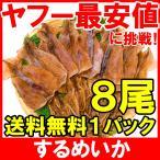 するめいか スルメイカ 8枚入り 北海道産 無塩 無添加 干物 するめ スルメ ポイント 消化 食品 メール便