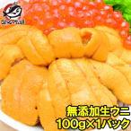 海胆 - 生ウニ 生うに 冷凍 無添加 天然 100g(ウニ うに 雲丹)