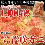 花蟹 - カニ鍋・カニ汁用『ぶつ切り花咲ガニ』 1キロ ※冷凍 sea ☆