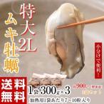 広島県産 特大ムキ牡蠣 2Lサイズ かき 牡蠣 カキ むきがき たっぷり900g 1袋:300g 7〜10粒×3袋  冷凍 送料無料