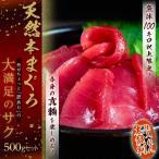 豊洲市場開場1周年記念商品 天然本マグロ たっぷり500g 6人前前後 ちょっと訳ありサク まぐろ 鮪 冷凍 送料無料
