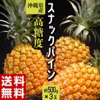 《送料無料》沖縄県産 スナックパイン 3玉 (1玉約600g以上)合...